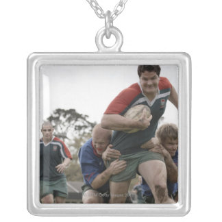 South Africa, Cape Town, False Bay Rugby Club Silver Plated Necklace