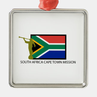 SOUTH AFRICA CAPE TOWN MISSION LDS CTR Silver-Colored SQUARE DECORATION