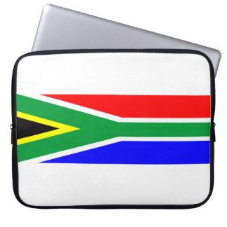 south africa country flag nation symbol name text laptop sleeve
