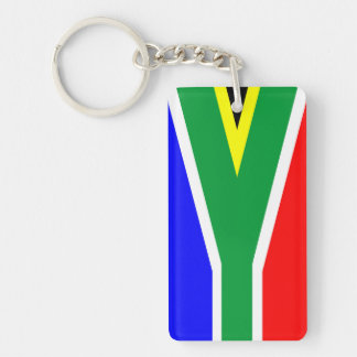 south africa country flag nation symbol name text Single-Sided rectangular acrylic key ring