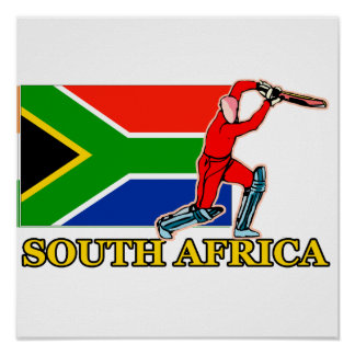 South Africa Cricket Player Poster
