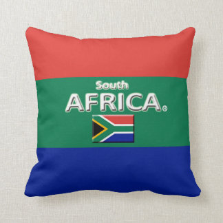 South Africa Decorative Throw or Lumbar Pillow