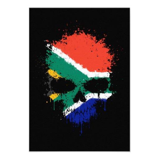 South Africa Dripping Splatter Skull Invites