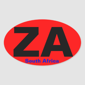 SOUTH AFRICA European-style Bumper Sticker