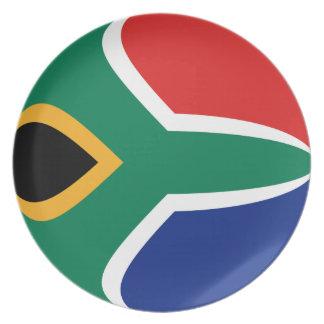 South Africa Fisheye Flag Plate