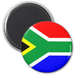 South Africa flag 6 Cm Round Magnet