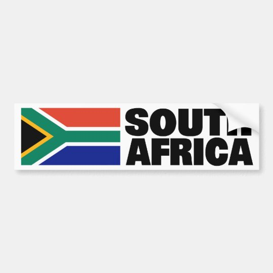 South Africa Flag Bumper Sticker