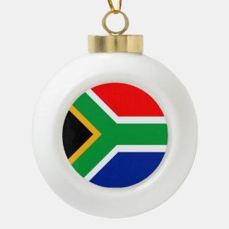South Africa Flag Ceramic Ball Christmas Ornament