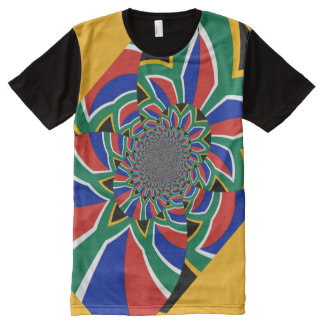 South Africa Flag Colors Men's American Apparel All-Over Print T-Shirt