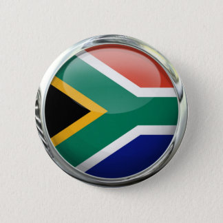 South Africa Flag Glass Ball 6 Cm Round Badge