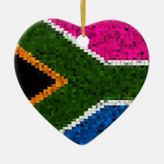 South Africa Flag glitter ornament
