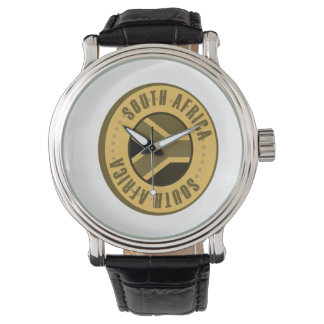 South Africa Flag Gold Coin Watch