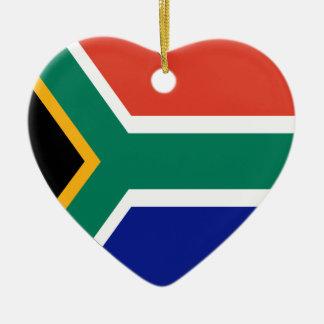 South Africa Flag Heart Ceramic Heart Decoration