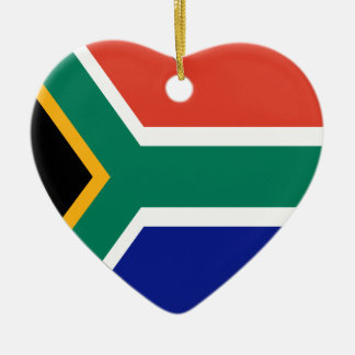 South Africa Flag Heart Christmas Ornament