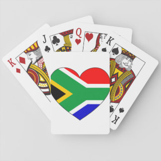 South Africa Flag Heart Playing Cards