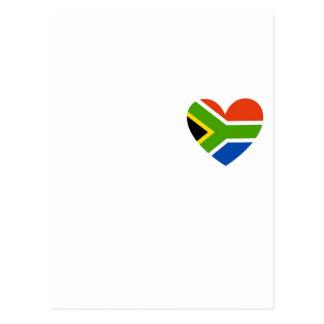 south africa flag heart postcard