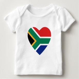 South Africa Flag Heart T-Shirt