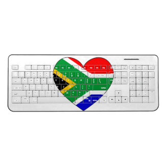 South Africa Flag Heart Wireless Keyboard