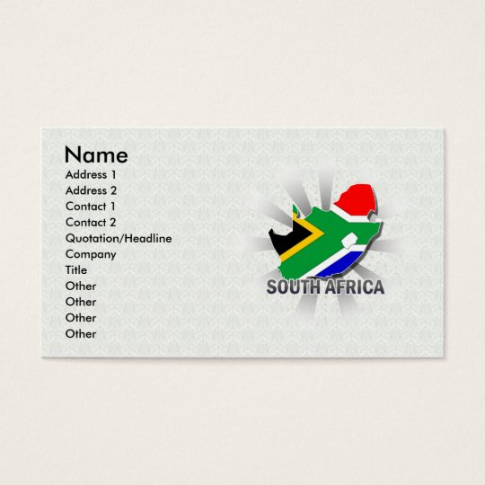 South Africa Flag Map 2.0 Business Card