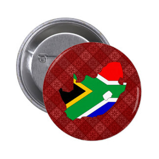 South Africa Flag Map full size Pinback Button