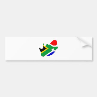 South Africa Flag Map full size Bumper Sticker