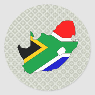 South Africa Flag Map full size Classic Round Sticker