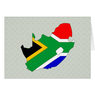 South Africa Flag Map full size Greeting Card