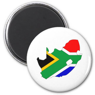 South Africa Flag Map full size Magnet