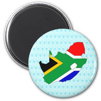South Africa Flag Map full size Magnets