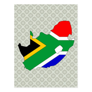 South Africa Flag Map full size Post Cards
