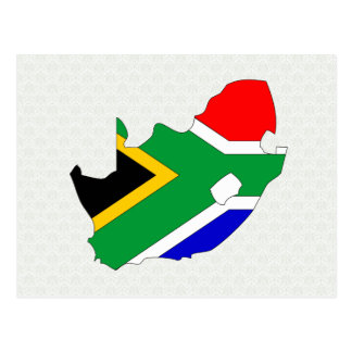South Africa Flag Map full size Postcards