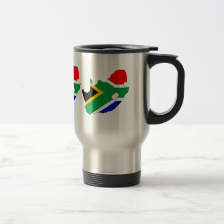South Africa Flag Map full size Stainless Steel Travel Mug