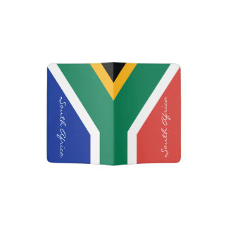 South Africa flag passport holder | African pride