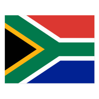 South Africa Flag Postcard