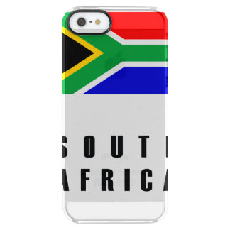 South Africa Flag Simple Dark Clear iPhone SE/5/5s Case
