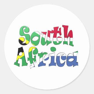 South Africa Flag Sticker Round Stickers