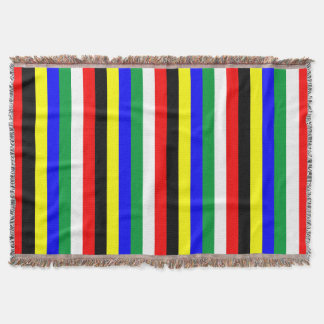 South Africa flag stripes lines symbol Throw Blanket