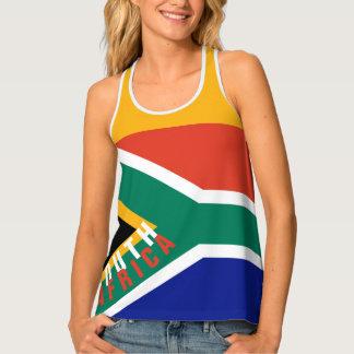 South Africa Flag Tank Top   Racerback