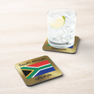 South Africa Flag+Text Coaster