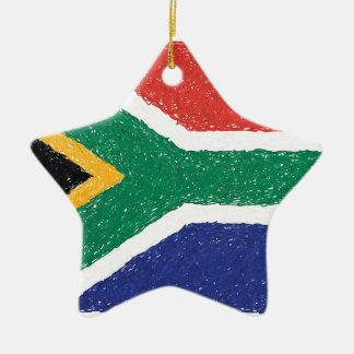 South Africa Flag Theme Christmas Ornament