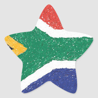 South Africa Flag Theme Star Sticker