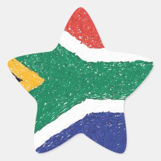 South Africa Flag Theme Star Sticker