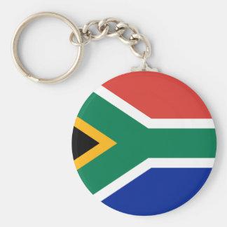South Africa Flag -  Vlag van Suid-Afrika Basic Round Button Key Ring
