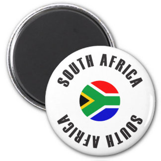 South Africa Flag Wheel Magnet