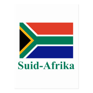 South Africa Flag with Name in Afrikaans Post Card