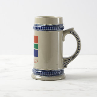 South Africa Flag with Name Coffee Mugs