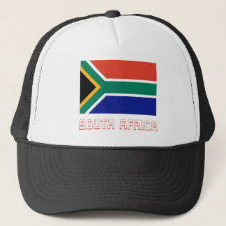 South Africa Flag with Name Trucker Hat