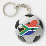 South Africa football Basic Round Button Key Ring