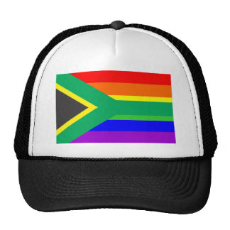 south africa gay proud rainbow flag homosexual trucker hat