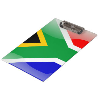 South Africa glossy flag Clipboard